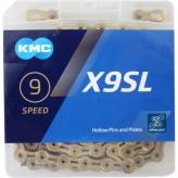 Łańcuch rowerowy KMC X9SL złoty