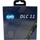 Łańcuch rowerowy KMC  DLC11 czarny/żółty