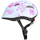 Kask rowerowy dziecięcy Prox Spidy M biały-różowy