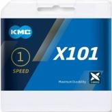 Łańcuch rowerowy KMC X101 srebrny