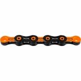 Łańcuch rowerowy KMC DLC12 126og czarny/pomarańczowy