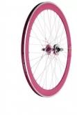 Koło rowerowe tylne 700 Fix Bike j14 stożek magenta