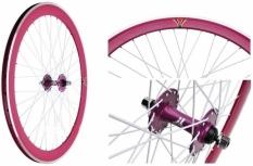 Koło rowerowe przednie 700 Fix Bike j14 stożek magenta