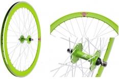 Koło rowerowe przednie 700 Fix Bike j13 stożek zielone
