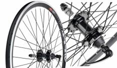 Koło rowerowe tylne 24 stożek tarcza wolnobieg QR