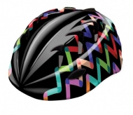 Kask rowerowy B-Skin Kidy Pro zigzag M czarny