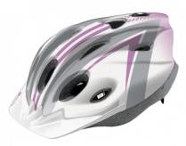 Kask rowerowy B-Skin Tomcat S biały szary różowy
