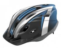 Kask rowerowy B-Skin Tomcat S czarny biały niebieski