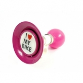 Trąbka rowerowa I love my bike różowa