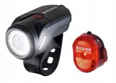 Zestaw lampek rowerowych Sigma Aura 35 Nugget II
