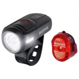 Zestaw lampek rowerowych Sigma Aura 45 Nugget II