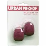 Zestaw lampek rowerowych Urban Proof Warm pink