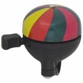 Dzwonek rowerowy Alu/PVC 51mm tęcza