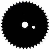 """Tarcza mechanizmu korbowego BMX 1/8""""x46T"""