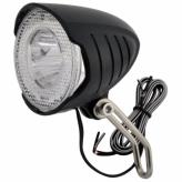 Lampka rowerowa przednia LED dynamo czarna