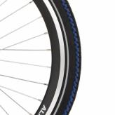 Opona rowerowa Deli 24x1.75 czarna/niebieska