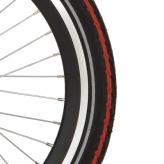 Opona rowerowa Deli 20x1.75 czarna/czerwona