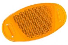 Odblask na szprychy żółty owalny