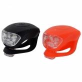 Zestaw lampek rowerowych LED baterie silikon