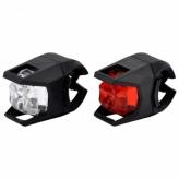 Zestaw lampek rowerowych LED baterie czarne