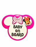 """Tabliczka z przyssawką """"baby on board"""" Minnie"""