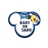 """Tabliczka z przyssawką """"baby on board"""" Mickey"""