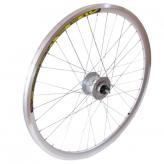 """Koło rowerowe przednie 26"""" prądnica 3W stożek"""