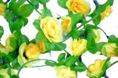 Kwiaty na kierownicę girlanda żółta