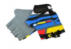 Rękawiczki rowerowe dziecięce lycra look