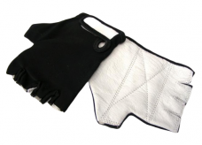 Rękawiczki rowerowe lycra czarne XS