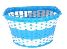 Koszyk rowerowy przedni plastik  niebieski plecionka