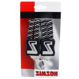 Gumy na bagażnik Simson 3 taśmy czarne - białe