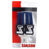 Gumy na bagażnik rowerowy Simson 3 taśmy niebieskie