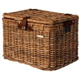 Koszyk rowerowy wiklina Basil Denton L brązowy