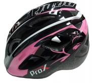 Kask rowerowy dziecięcy Prox Armor M czarny-różowy