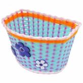 Koszyk rowerowy dziecięcy PVC błękitny