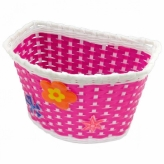 Koszyk rowerowy dziecięcy PVC różowy