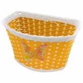 Koszyk rowerowy dziecięcy PVC żółty