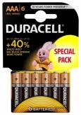Baterie lr03 duracell aaa alkaline 6 szt. blister