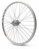 Koło rowerowe tylne 26 stożek tarcza wolnobieg srebrne