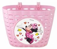 Koszyk rowerowy przedni Disney Minnie różowy