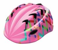 Kask rowerowy dziecięcy B-skin Kidy pro zigzag S różowy