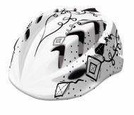 Kask rowerowy B-skin Kidy Pro kites XS biały/czarny