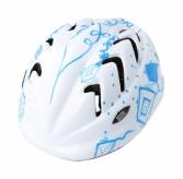 Kask rowerowy B-skin Kidy Pro kites S biały/niebieski