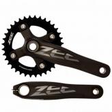 Mechanizm korbowy Shimano Zee 175x36T 10s czarny
