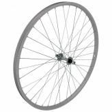 Koło rowerowe przednie 26 Stal/Alu srebrne