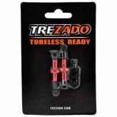 Zawór TREZADO Presta 34mm do Tubeless czerwony