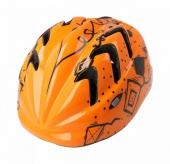 Kask rowerowy B-skin Kidy Pro kites XS pomarańczowy