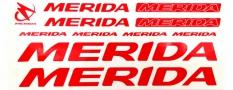 Naklejka na rower Merida czerwona - biała obw. 5 szt.