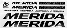 Naklejka na rower Merida czarna 5 szt.